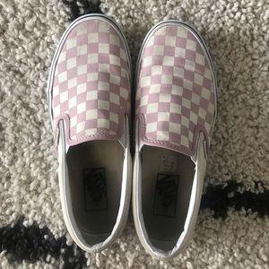 Pink and cream Vans